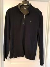 NEW! Calvin Klein Jeans Mens ¼ Zip Pullover Sweatshirt Navy L - $15.54