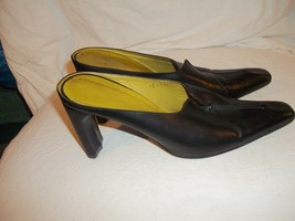 Ladies Italian Heels Mules Size M Lisha Leather 8 Made Black Shoes 4USqrR4w