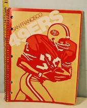 Vintage San Francisco 49ers Paper Binder Sports - $13.86