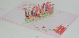 Lovepop LP2318 Floral Love Pink Pop Up Card White Envelope Cellophane Wrapped image 2