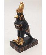 EGYPTIAN EGYPT HORUS GOD OF THE SKY AND SUN STATUE SMALL DOLL HOUSE MINI... - $10.49