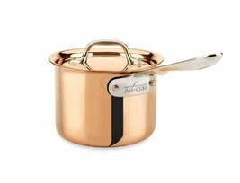All-Clad C2 Copper Clad 2 Qt Sauce Pan with Copper Lid Cookware New In Box