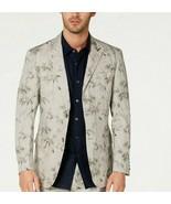 Tasso Elba Men's Classic-Fit Bamboo-Print Linen Suit Size Medium $119 - $34.60