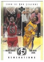 2000-01 Upper Deck NBA Legends Michael Jordan & Kobe Bryant Generations ... - $22.78