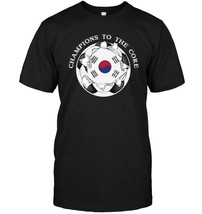 South Korea Soccer T Shirt Champions To The Core Football - $17.99+