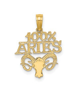 14K Yellow Gold 100% Aries Charm (Length=19) (Width=14.6) [D4054] - $48.20