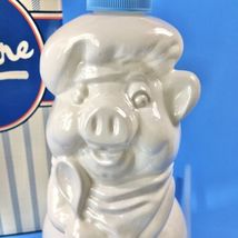 Vintage 1984 Avon White Glass Chef Pierre the Pig Soap/Lotion Dispenser ... - $18.66