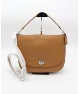 NWT Coach Turnlock Brown Leather Hobo Shoulder Crossbody Bag Purse 24771... - $215.00