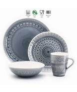 Fez 16 Piece Dinnerware Set in Grey by Euro Ceramica - $96.97
