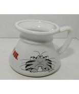 Sandra Boynton no spill travel coffee cup Keep your paws off my mug gray... - $9.89