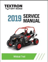 2019 Textron Off Road (Arctic Cat) Wildcat Trail Service Manual CD - $12.00