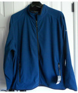 NWT MEN'S Eddie Bauer 4XL Vertical Full Zip Fleece Jacket Blue LIGHTWEIGHT  - $32.71