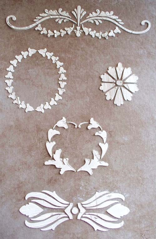 Plaster stencil tremont elements