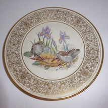 Lenox Boehm Gold Plate Bird 1979 Plate Golden Crowned Kinglets - $5.13