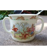 Royal Doulton Bunnykins Two Handled Cup w/ Peter Rabbit & Friends Roller... - $14.99