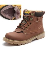 BDF Quality Men Winter Boot Top Quality Cow Leather Snow Winter Warm Sho... - $66.45