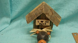 I love my bear wooden handmade decoration great for cabin/other rustic s... - $5.90
