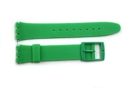 17mm Green Soft PVC Replacement Watch Band Strap fits SWATCH watches/ 2 ... - $10.95