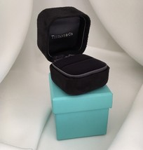 Tiffany & Co Presentation Black Suede Engagement Ring Box and Blue Box - $125.00