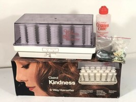 Clairol Kindness 3 Way Hairsetter Vintage Hot Rollers Curlers Set Model ... - $74.24
