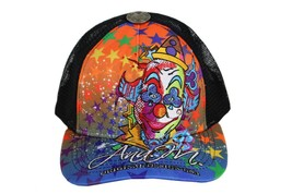 BRAND NEW EMBROIDERED COLORFUL CLOWN ADJUSTABLE HAT CAP SNAPBACK BLACK ONE SIZE