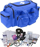 Blue 200 Pcs Emergency Medical Trauma Kit Carry Bag & First Aid Supplies... - $192.99