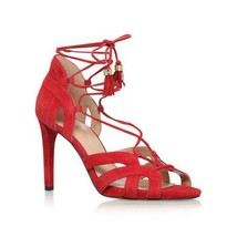Michael Michael Kors Womens Mirabel Red Suede Leather  Heel Sandals, Size 7 - $39.55