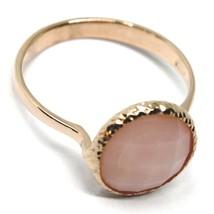 SOLID 18K ROSE GOLD RING, CUSHION CENTRAL ROSE QUARTZ, DIAMETER 10mm image 2