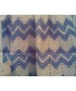 Hand crocheted baby ripple afghan/blanket/coverlet/lapghan - $40.00