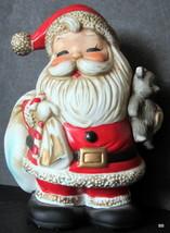 Vintage Bisque Ceramic Santa Claus Bank Home Interiors Homco  Christmas #5610 - $12.86