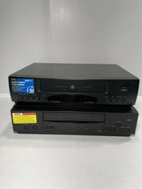 VCRs GE VG4267 & RCA Vr612hf. Both Power On But No Remote To Test Further. - $39.55