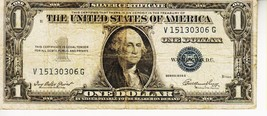 SERIES 1935  F    ONE DOLLAR SILVER CERTIFICATE==CIRCULATED CONDITION - $1.97