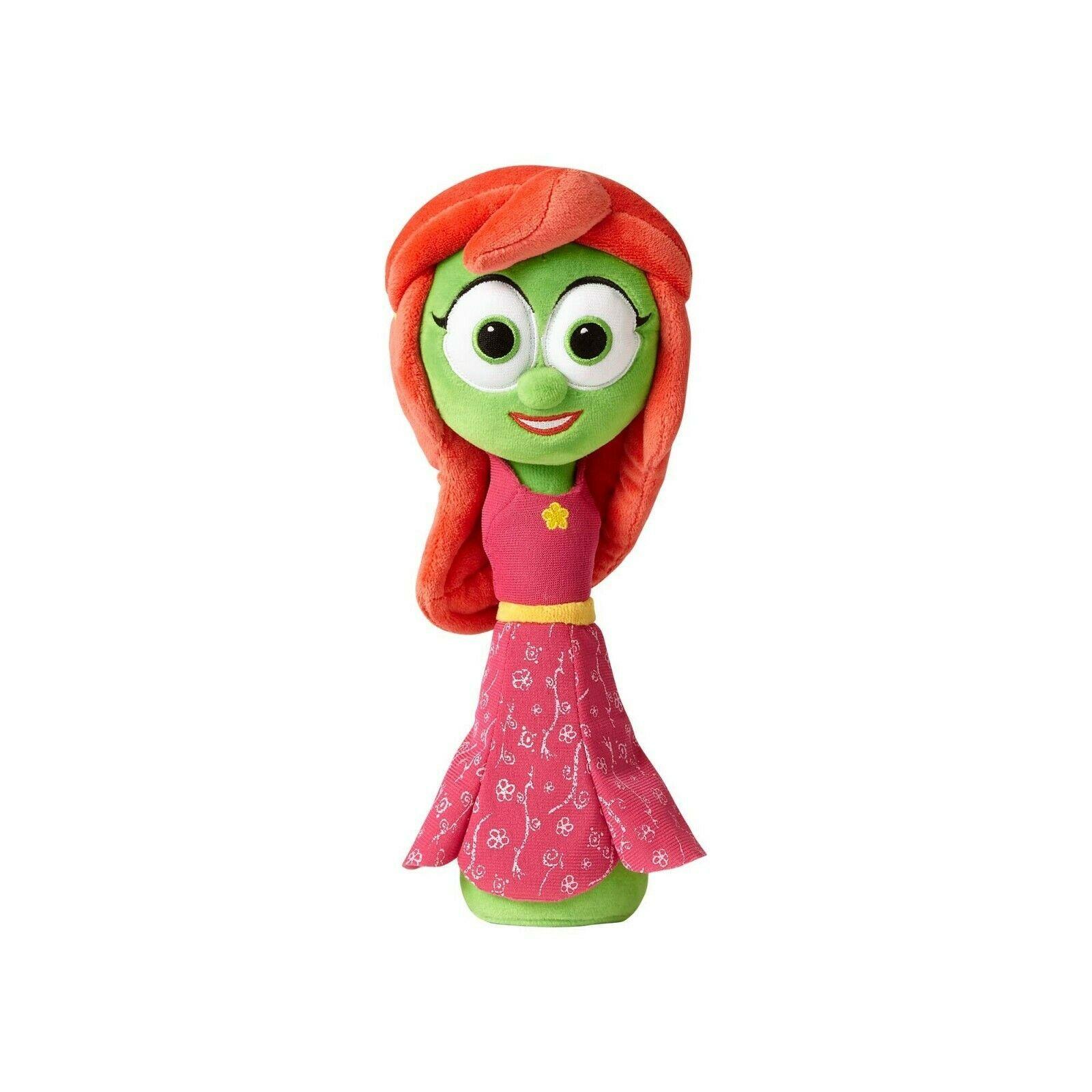 "Enesco Veggietales Petunia Rhubarb Plush Doll Toy 11"" Tall Super Soft Veggie"