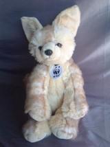 """Build-A-Bear FENNEC FOX 14"""" Plush WWF Wildlife Fund Medallion 2011 Stuff... - $15.00"""