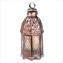 2 -  Copper Moroccan Candle Lamps - $25.10