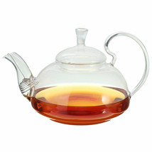 Heat Resistant Elegant Glass Teapot Infuser Flower/Green Tea Pot 750ml Size - $35.87