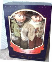 The Cousins Porcelain Dolls 2 Genuine Hand Painted Doll Set for Adult Co... - $26.99