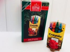 Hallmark Keepsake Ornament 1991 Crayola Crayon Bright Vibrant Carols 224... - $9.64