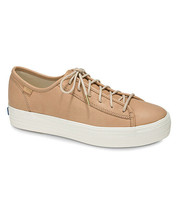 Keds WH58062 Women's Triple Kick Natural Leather Natural Shoes, 8 Med - $49.45