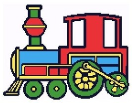 Choo Choo Crochet Color Graph Afghan Pattern - $5.00