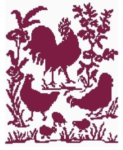 Red Roosters Color Graph Pattern