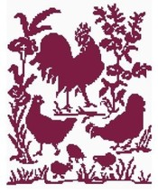 Red Roosters Color Graph Pattern - $5.00