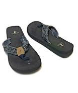 Corkys Youth Cushioned Blue  Denim Flip Flops Sandals Size 3 - $14.58