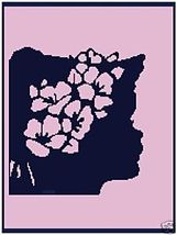 Lavender Silhouette Color Graph Afghan Pattern - $5.00