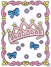 For My Little Princess Color Graph Afghan Pattern - $5.00