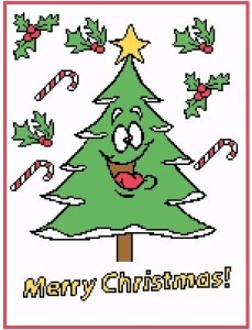 Laughing Christmas Tree Color Graph Pattern