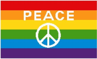 Rainbow Peace Flag Color Graph Afghan Pattern
