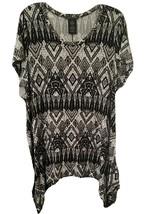 Chelsea & Theodore Black White Geometric Southwest Aztec Womens Loose To... - $14.85