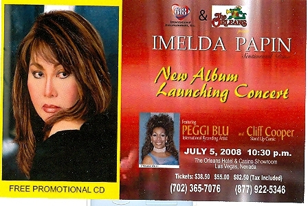 Manny Pacquiao / Imelda Papin Promo Card