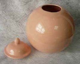 "HAEGER Pottery 4306 Pink Mauve 8"" Ball Sphere Ball Vase, Urn or Planter ... - $24.00"
